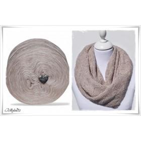 Product bundle Knitting pattern + Mottled Yarn SAND DUNE
