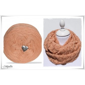 Produktkombination Strickanleitung SALMO + Wolle einfarbig Merino SALMON