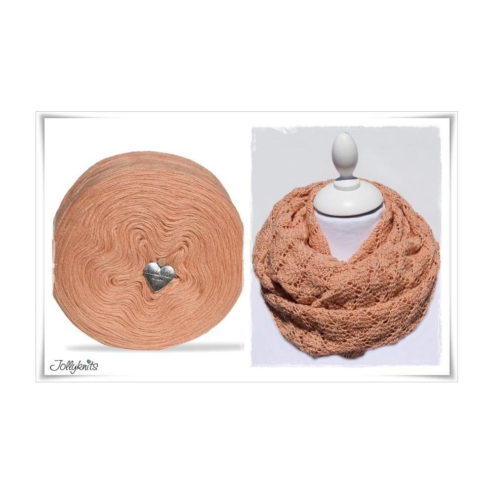 Product bundle Knitting pattern SALMO + Solid Yarn SALMON