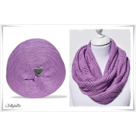 Product bundle Knitting pattern SWEET VIOLET + Solid Yarn Merino LILAC
