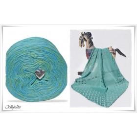 Product bundle Knitting pattern + Mottled Yarn ATLANTIS