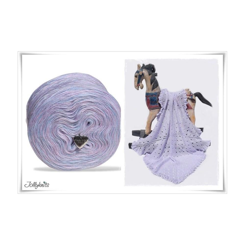 Produktkombination Strickanleitung + Wolle meliert Merino FAIRYTALES