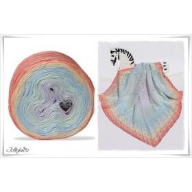 Product bundle Knitting pattern + Gradient Yarn UNICORN