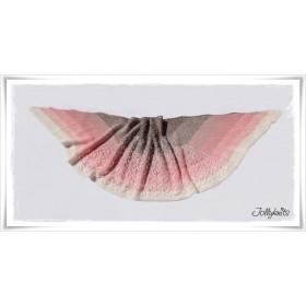 Knitting Pattern Lace Shawl DESERT ROSE