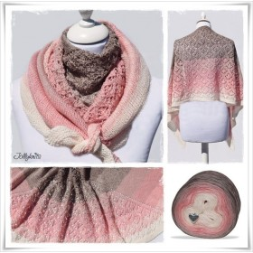 Knitting Pattern Lace Shawl DESERT ROSE