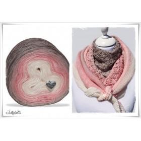 Product bundle Knitting pattern + Gradient Yarn DESERT ROSE