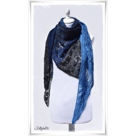 Knitting Pattern Lace Shawl BLUE MOUNTAIN