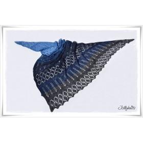 Strickanleitung Lacetuch BLUE MOUNTAIN