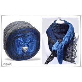 Produktkombination Strickanleitung + Farbverlaufswolle Merino BLUE MOUNTAIN