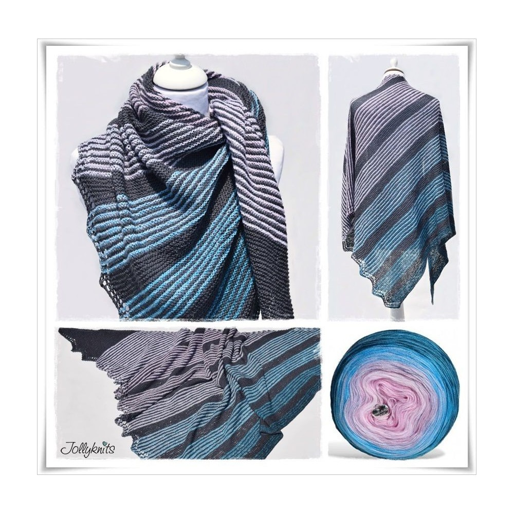 Knitting Pattern Lace Shawl MIKADO