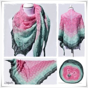Knitting Pattern Lace Shawl BABUSHKA