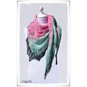 Knitting Pattern Lace Shawl BABUSHKA