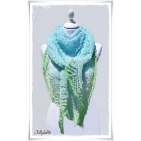 Knitting Pattern Lace Shawl MOJITO