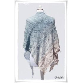 Knitting Pattern Lace Shawl SHABBY ISLAND
