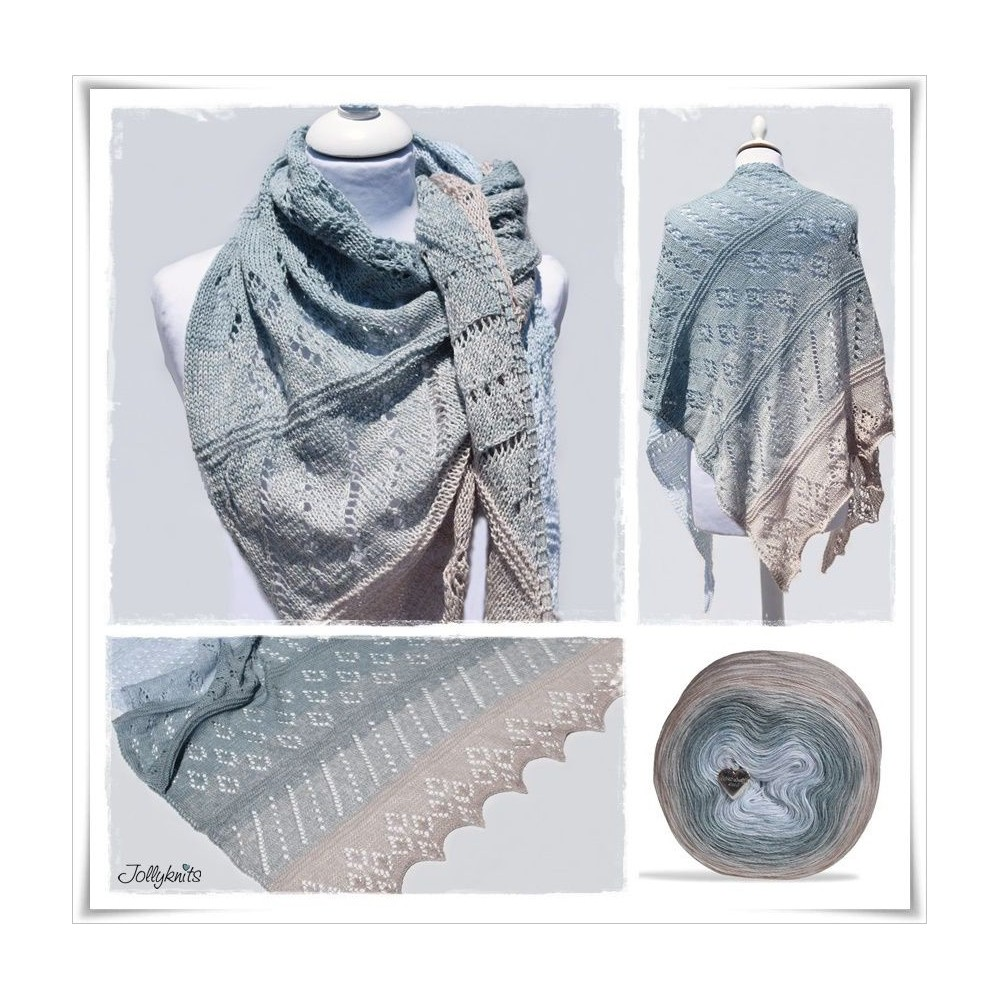 Knitting Pattern Lace Shawl SHABBY ISLAND