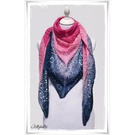 Knitting Pattern Lace Shawl BLEADING HEART