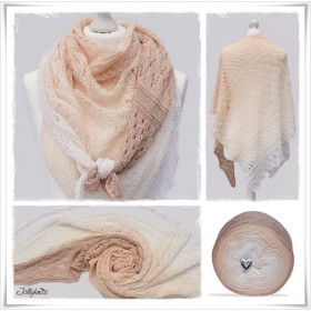 Knitting Pattern Lace Shawl APRICOT CANDY