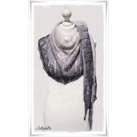 Knitting Pattern Lace Shawl GREY DAWN