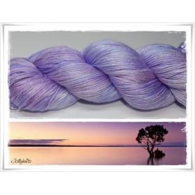 Gradient Yarn hand dyed LILAC MOOD