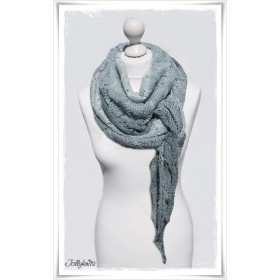 Knitting Pattern Lace Shawl COTTAGE DREAM