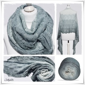 Knitting Pattern Lace Shawl COTTAGE DREAM