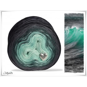 Gradient Yarn Merino  BLACK SEA