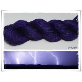 Solid Yarn hand dyed STORM