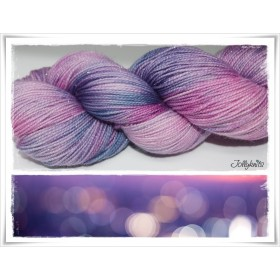 Gradient Yarn hand dyed SUBZONIC GLITZER SILBER