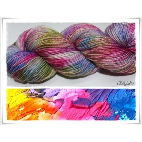 Gradient Yarn hand dyed COLOUR EXPLOSION