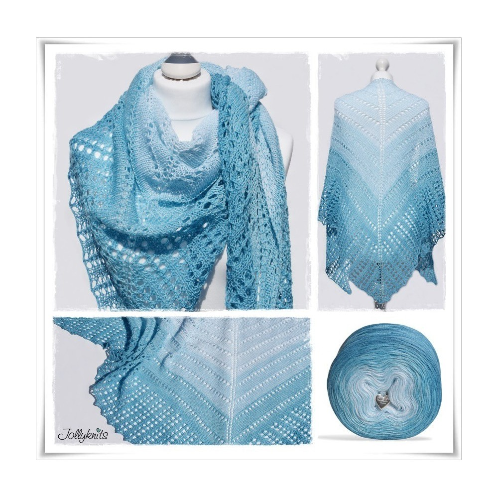 Knitting Pattern Lace Shawl PLACE IN HEAVEN