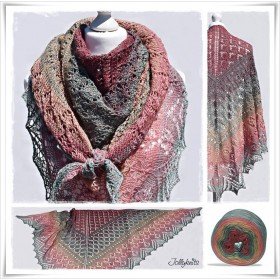 Knitting Pattern Lace Shawl WACHIWI