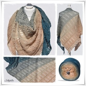 Knitting Pattern Lace Shawl VINTAGE