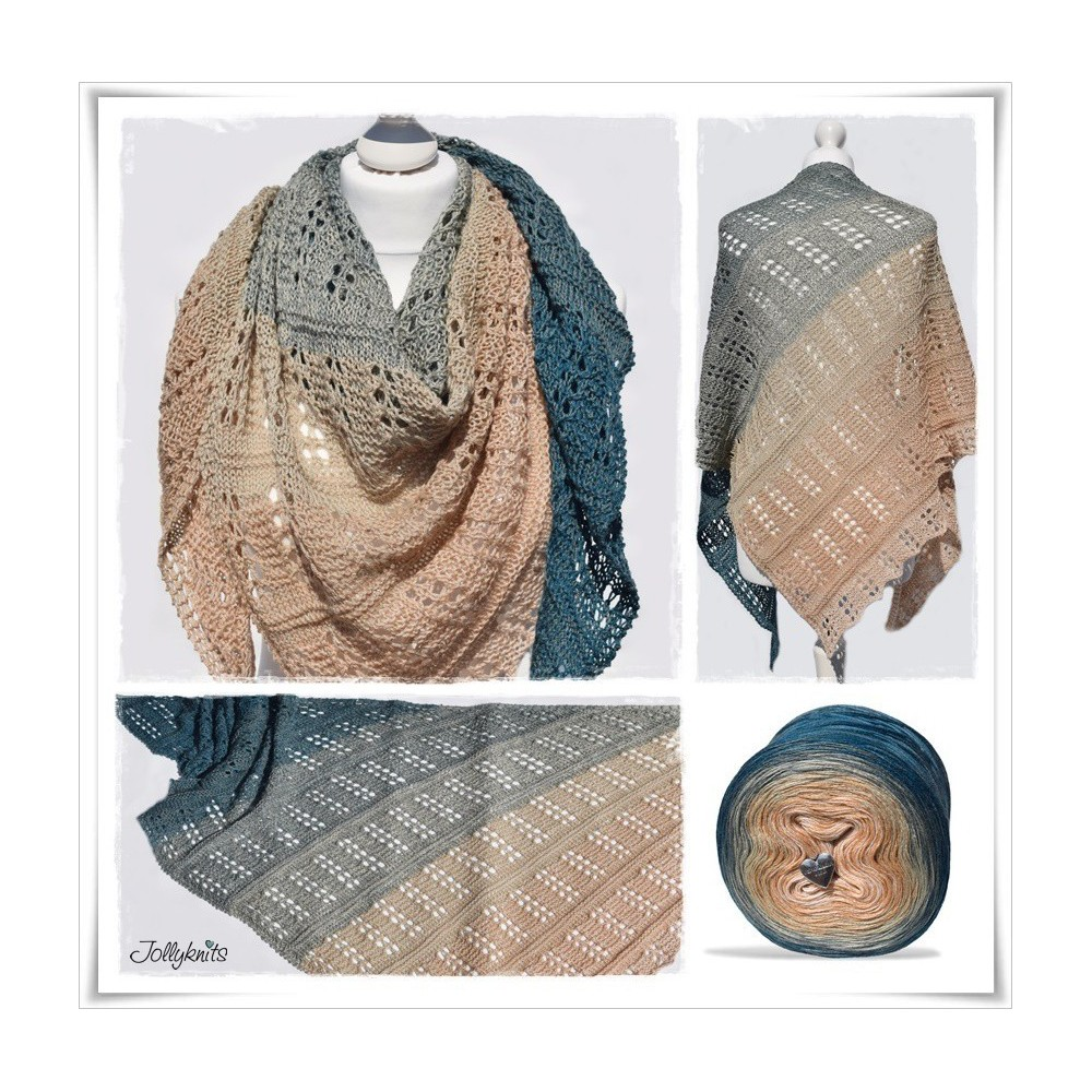Knitting Pattern Lace Shawl VINTAGE
