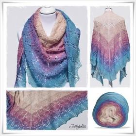 Knitting Pattern Lace Shawl AFRICAN BIRD