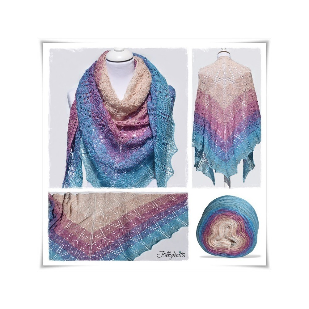 Knitting Pattern Lace Shawl AFRICAN BIRD