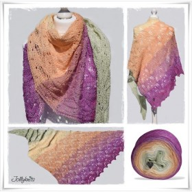 Knitting Pattern Lace Shawl FRUITY WAVES