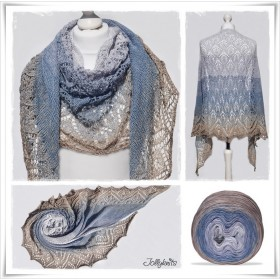 Knitting Pattern Lace Shawl DAY AT THE SEA
