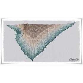 Knitting Pattern Lace Shawl OCEAN DUST