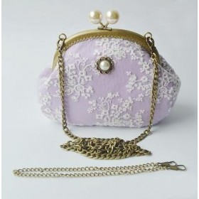 Shabby Chic carry bag, violet