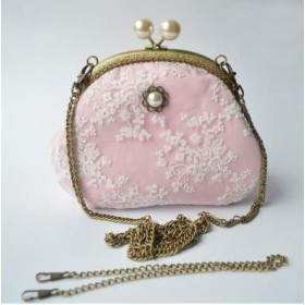 Shabby Chic Umhängetasche, rosa