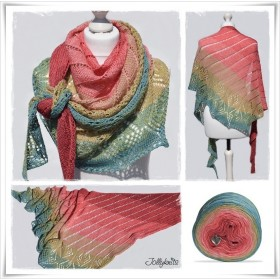 Knitting Pattern Lace Shawl SUMMER FEELING