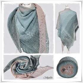 Knitting Pattern Lace Shawl SUKKULENTA
