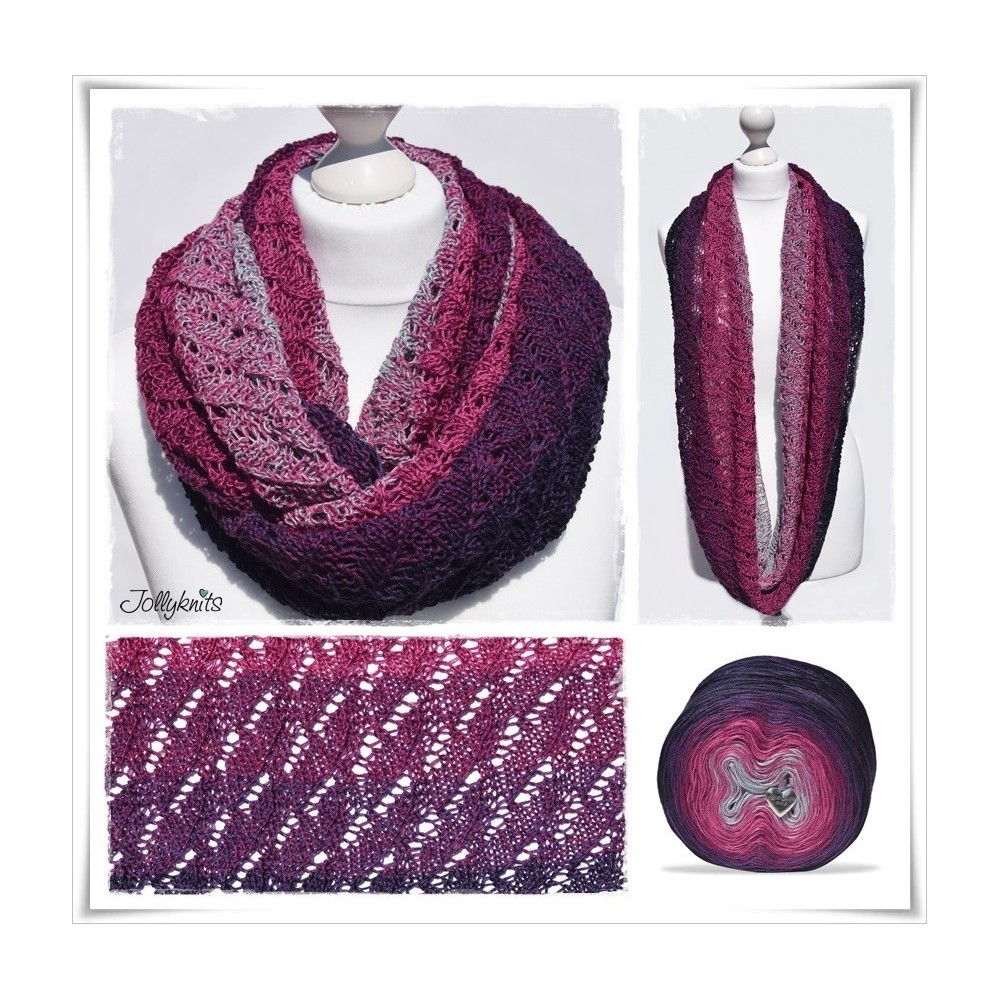 Knitting Pattern Cowl SWEET BERRY