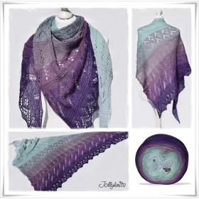 Knitting Pattern Lace Shawl GEORGINA