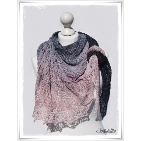Knitting Pattern Lace Shawl STAIRWAY TO HEAVEN