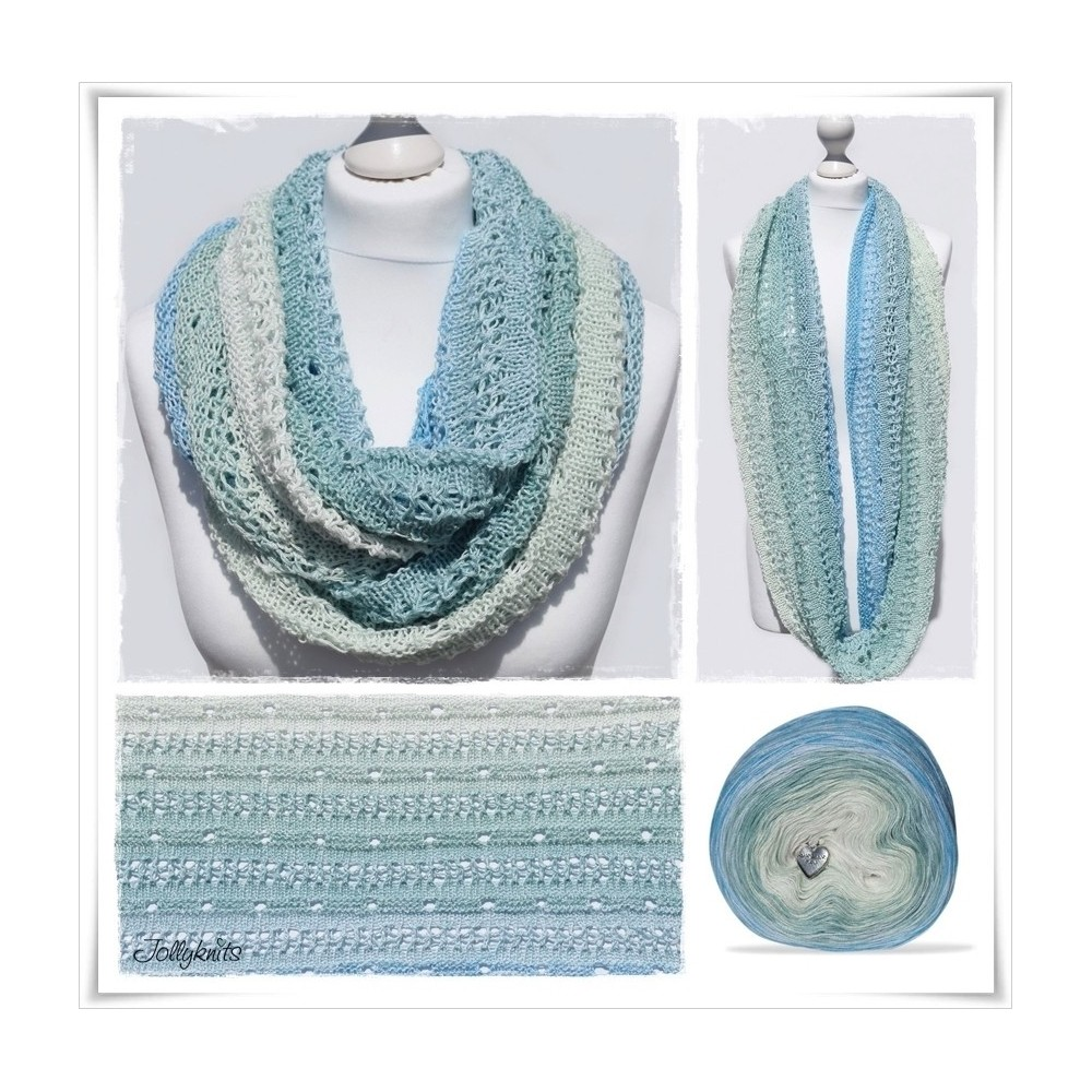 Knitting Pattern Cowl SEAWATER
