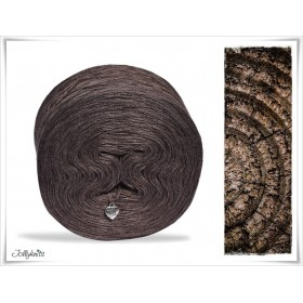Solid Yarn Cotton BROWN MOTTLED