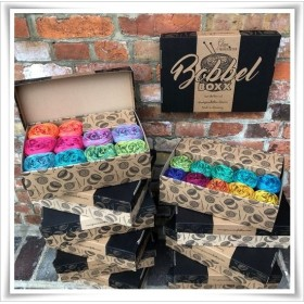 Bobbel Boxx Gradient Yarn BLACKWHITE PISTACHIO