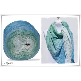 Gradient Yarn + Knitting pattern SEA BREEZE