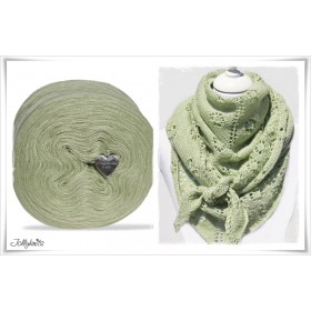 Gradient Yarn + Knitting pattern FLOWERS + LIME